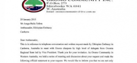 URGENT: Statement released by Western Australian Oromo Community